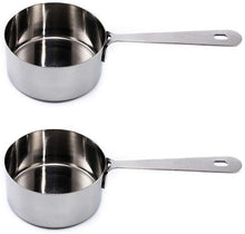 Load image into Gallery viewer, Measuring Cups Set of 2: 1/2 Cup 120 ML , Polished Stainless Steel