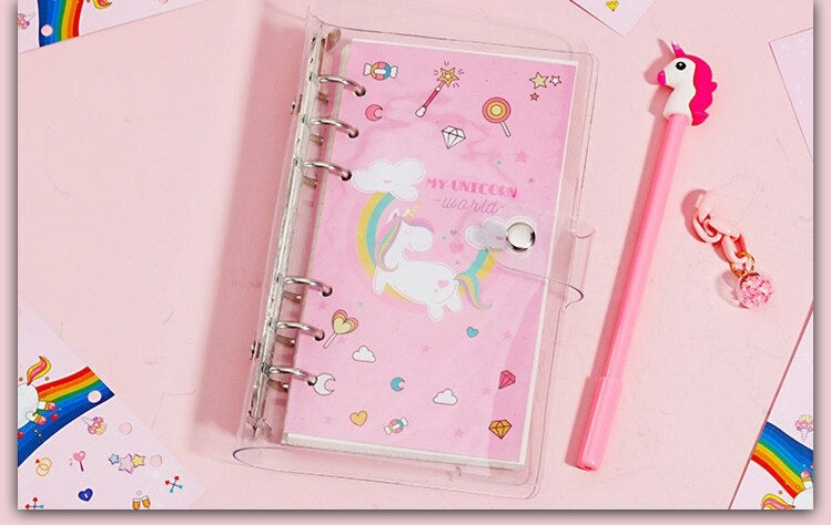 Unicorn Diary Notebook and Pen Gift Set with Stickers