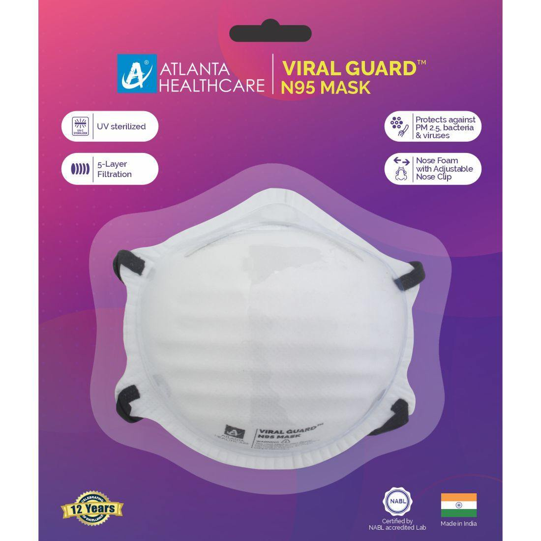 Viral Guard™ N95 Face Masks [Pack of 4]