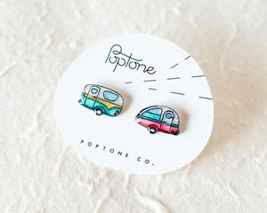 Vintage Camper Stud Earrings