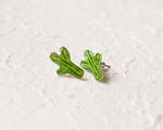 Load image into Gallery viewer, Saguaro Cactus Stud Earrings