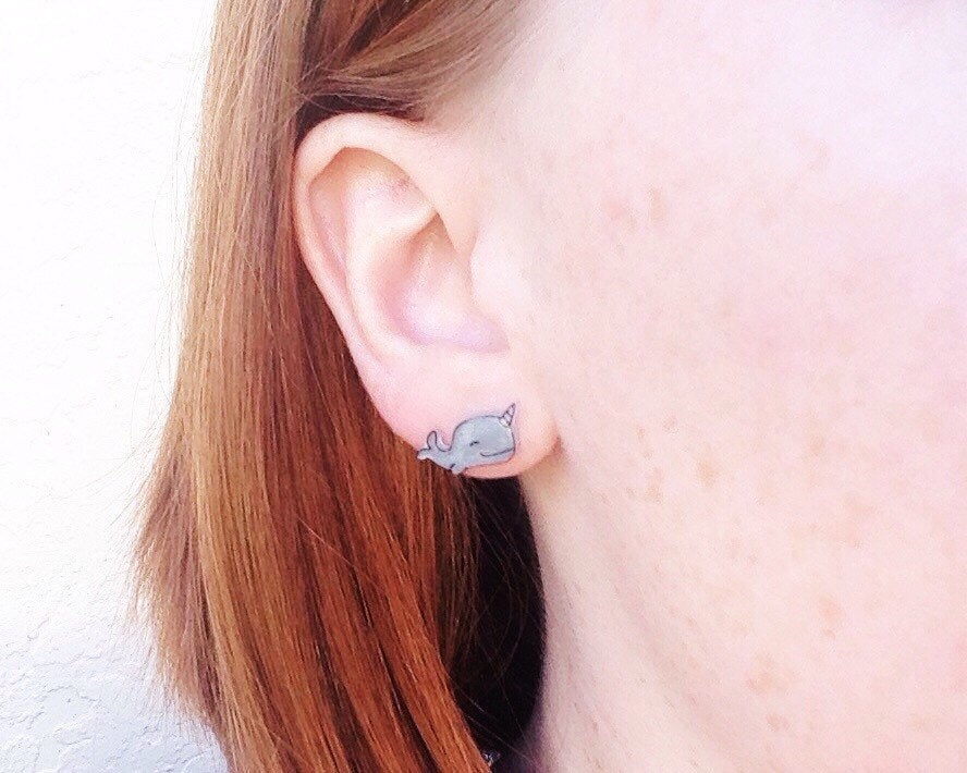 Narwhal Stud Earrings