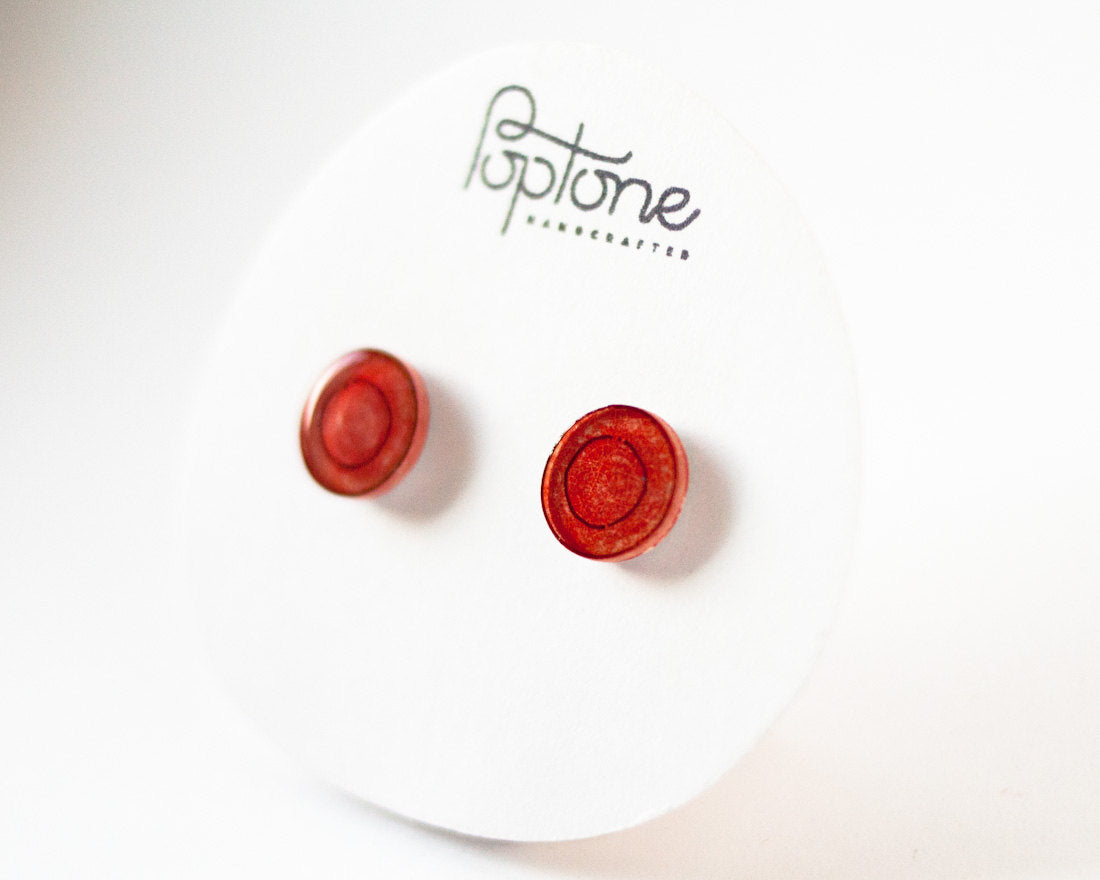 Red Blood Cell Stud Earrings / Nurse Doctor Gift