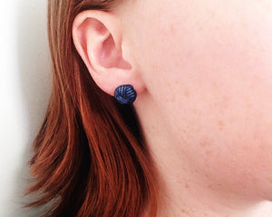 Yarn ball Stud Earrings