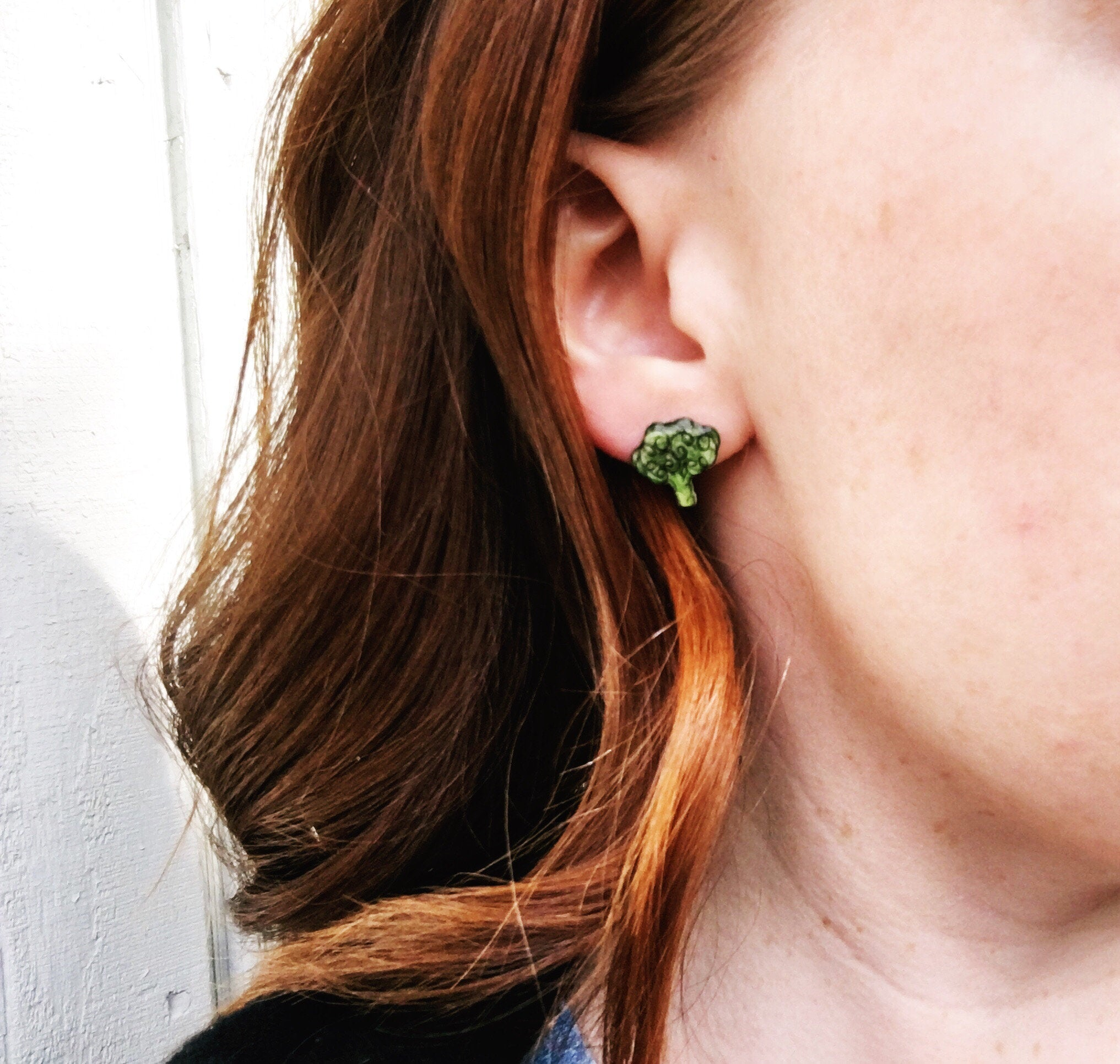 Broccoli Stud Earrings