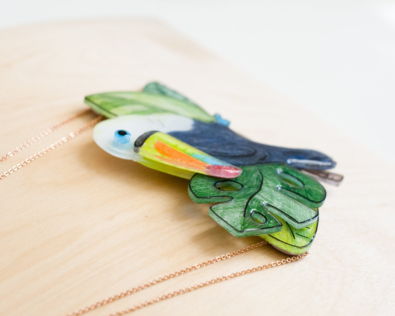 Toucan Tropical Statement Necklace