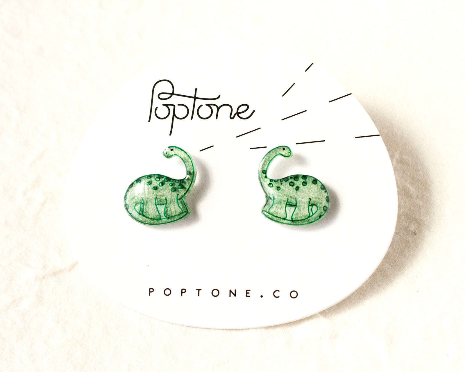Cute Brontosaurus Dinosaur Stud Earrings