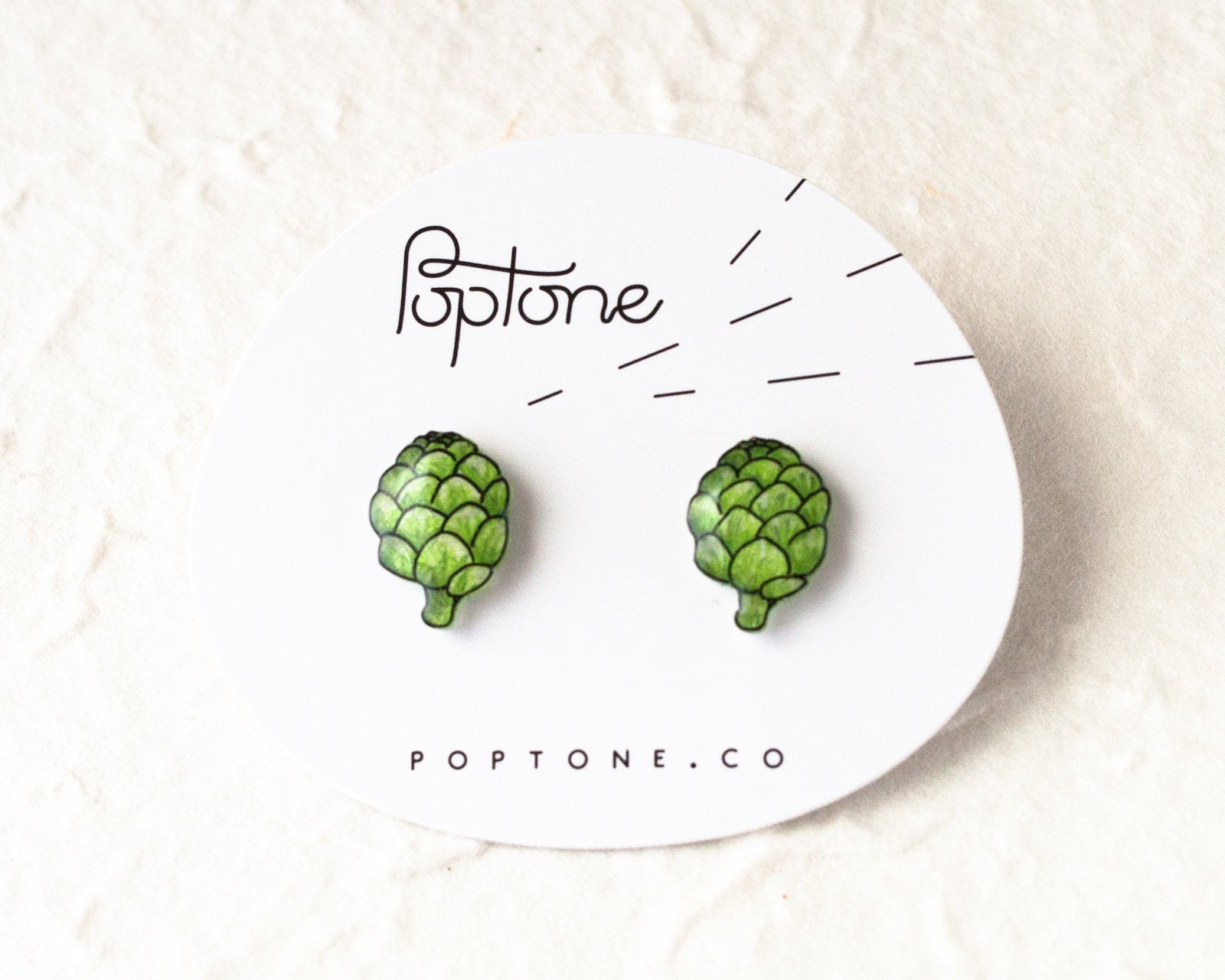 Beer Hops Stud Earrings