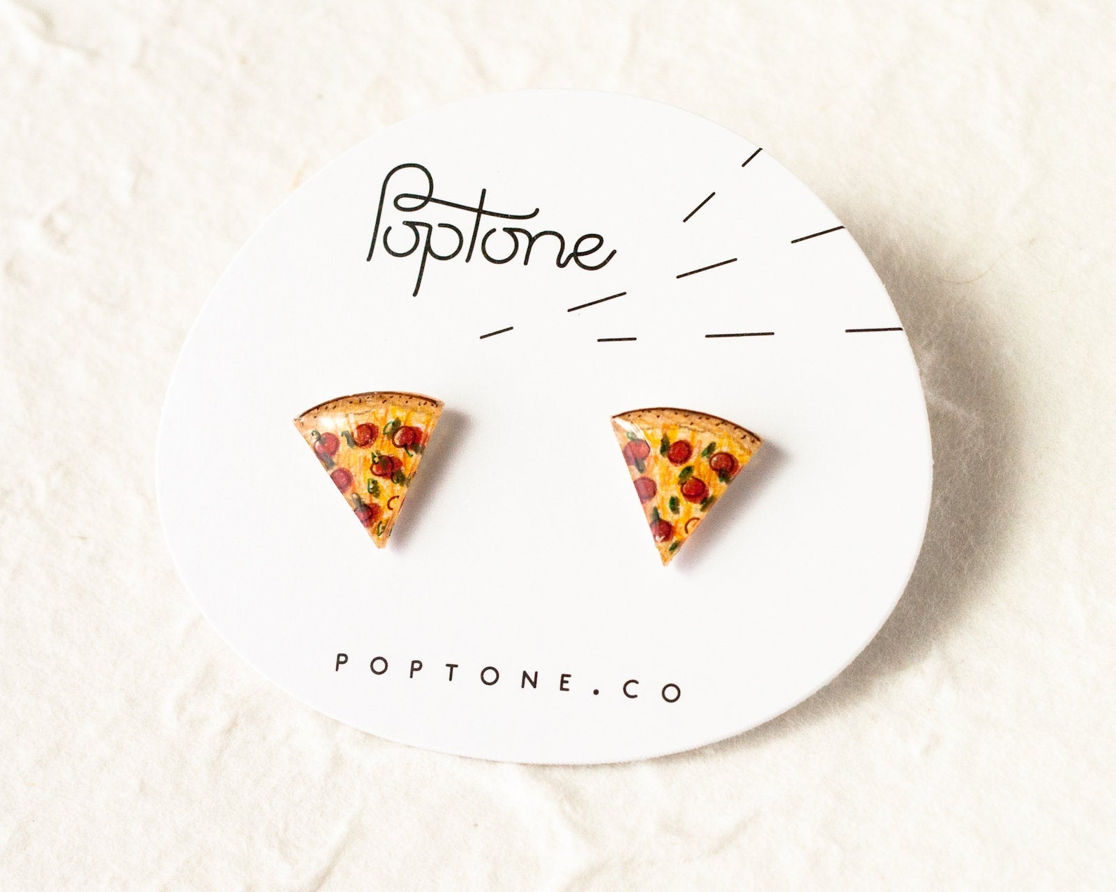 Pizza Slice Stud Earrings