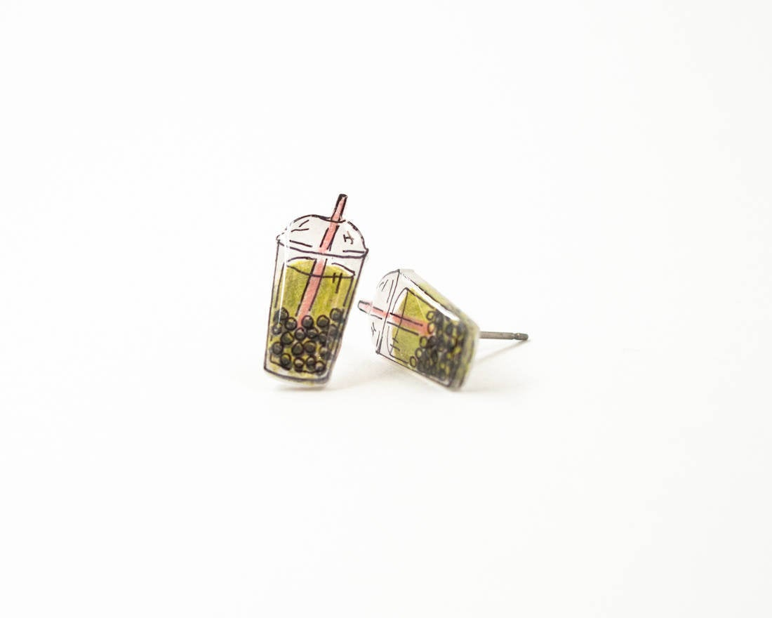 Bubble Tea Stud Earrings
