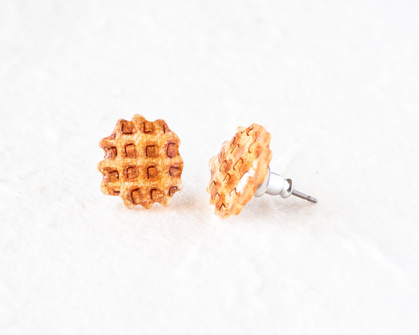 Waffle Stud Earrings