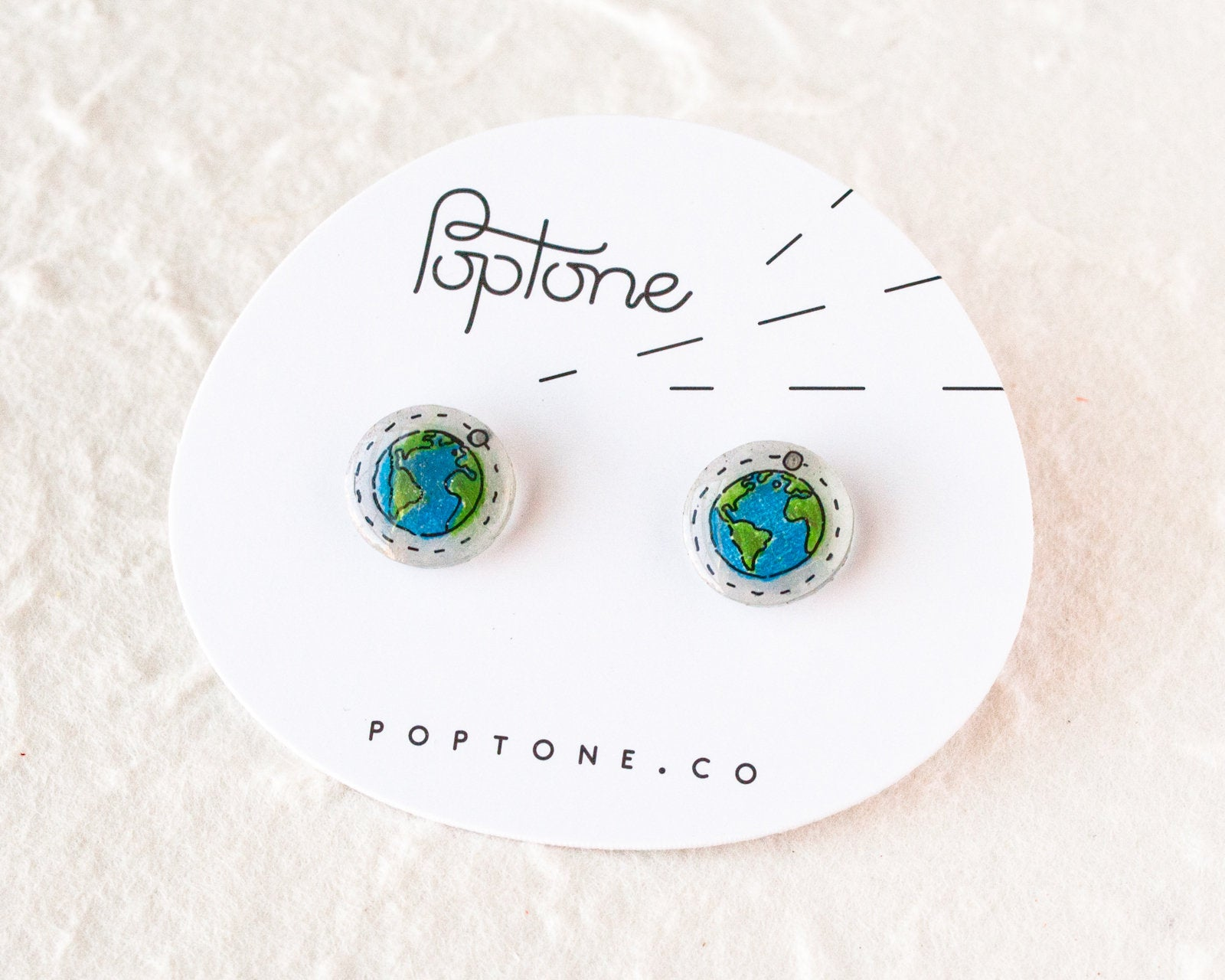 Planet Earth Stud Earrings