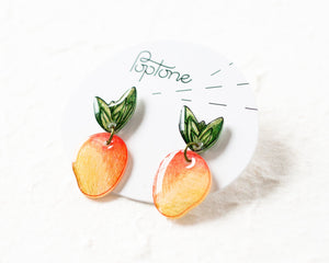 Mango Fruit Drop Earrings