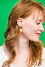 Load image into Gallery viewer, Mango Fruit Drop Earrings