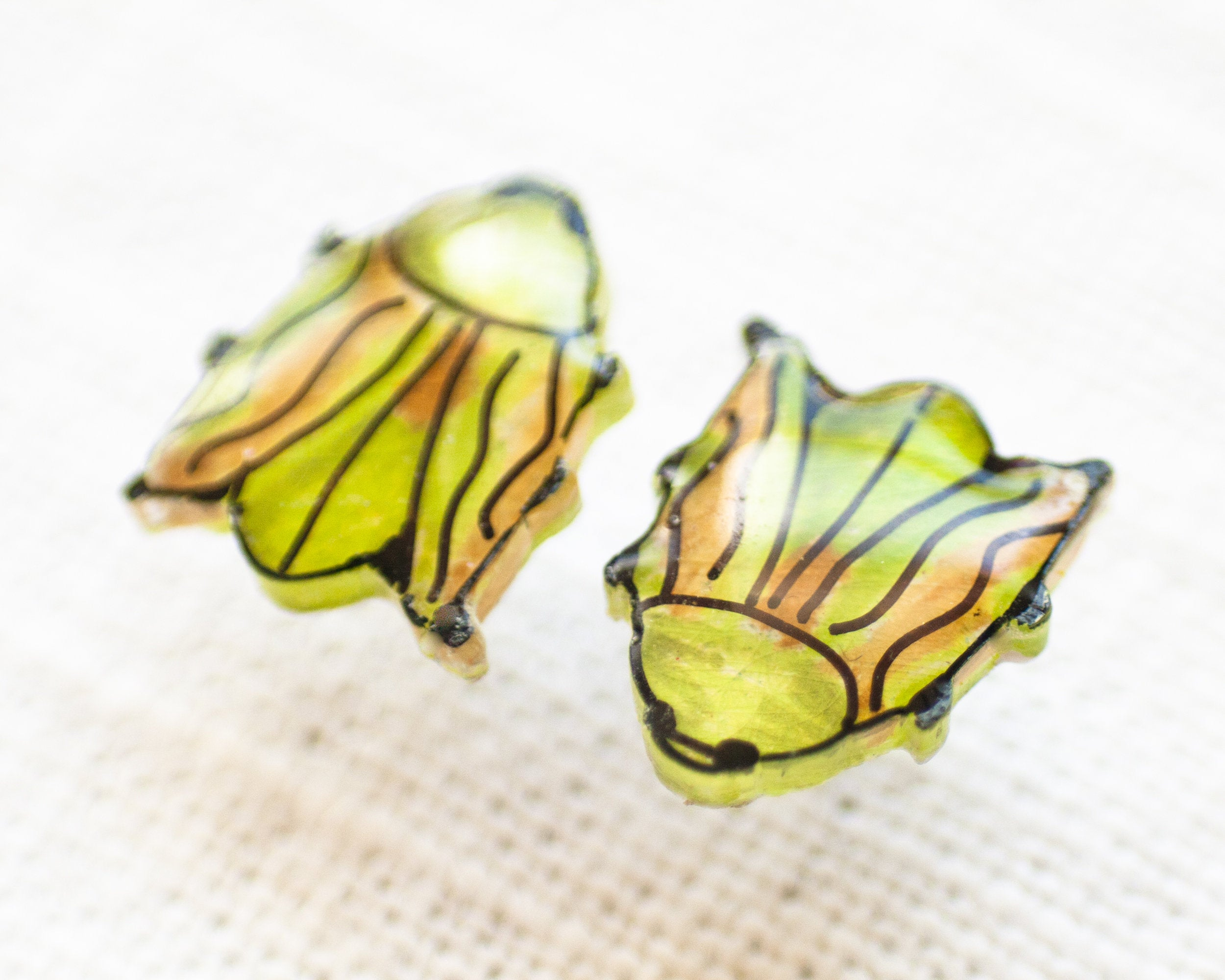 Scarab Beetle Stud Earrings