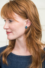 Load image into Gallery viewer, Blue Butterfly Stud Earrings