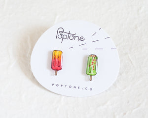 Mexican Paleta Popsicle Stud Earrings