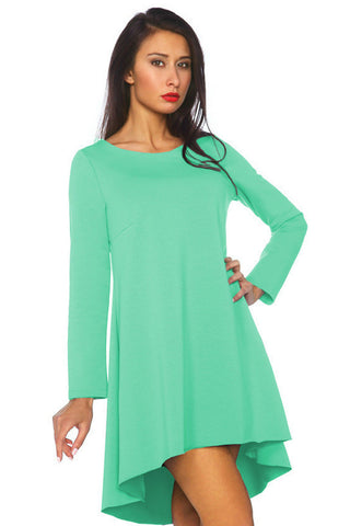 Women's Tunic Swing Hi Low Dress Long Trendy Stylish Sexy SML 8 - 12