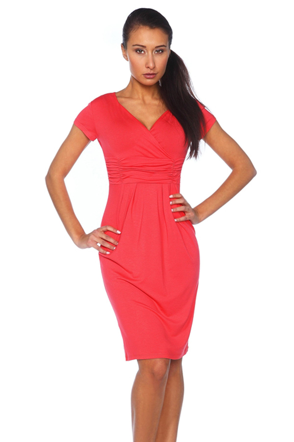 Maternity dresses short sleeve v neck summer dress juicy peach maternity dresses short sleeve v neck stretch summer office casual work dress juicy peach fashion ombrellifo Choice Image