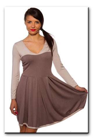 Sexy Ladies Dress V Neck Skater Style Flared Trendy Stylish Size 8 - 12