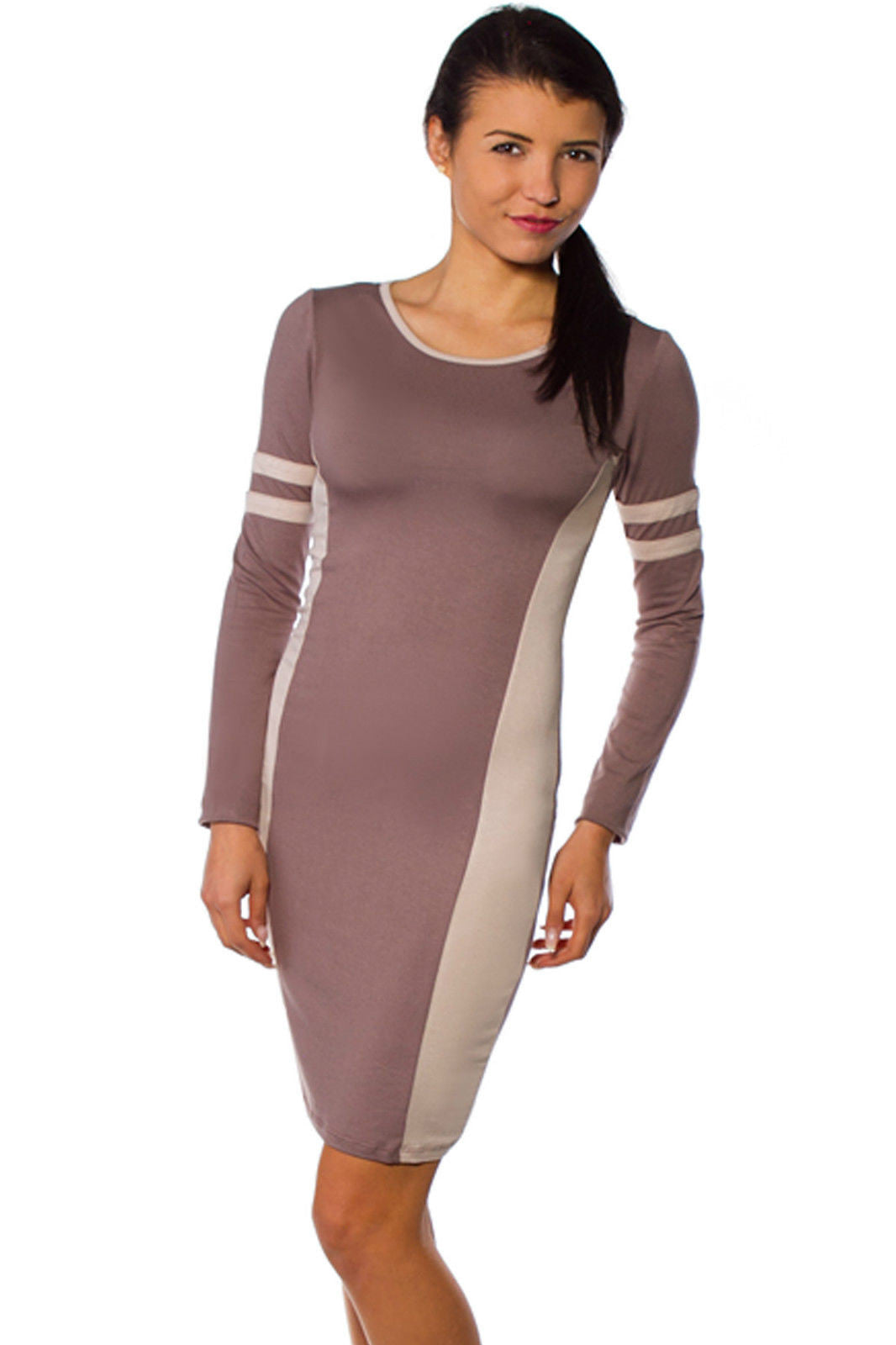 Sexy Ladies Dress Two Tone Colour Trendy Tunic Stylish ...