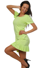 Summer Fashion Frill Hem Mini Dress - Juicy Peach Fashion Maternity clothes - 7