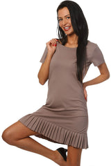 Summer Fashion Frill Hem Mini Dress - Juicy Peach Fashion Maternity clothes - 4