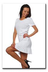 Summer Fashion Frill Hem Mini Dress - Juicy Peach Fashion Maternity clothes - 1