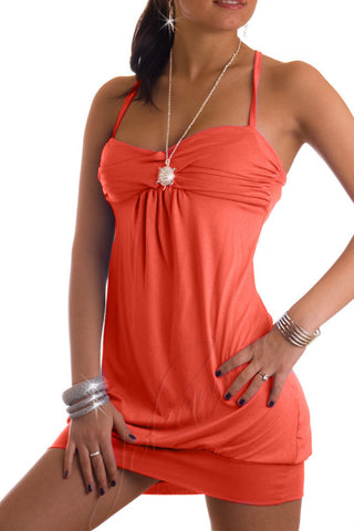 Sexy Stretch Summer Holiday Beach Tunic Top Short Mini Dress Sleeveless