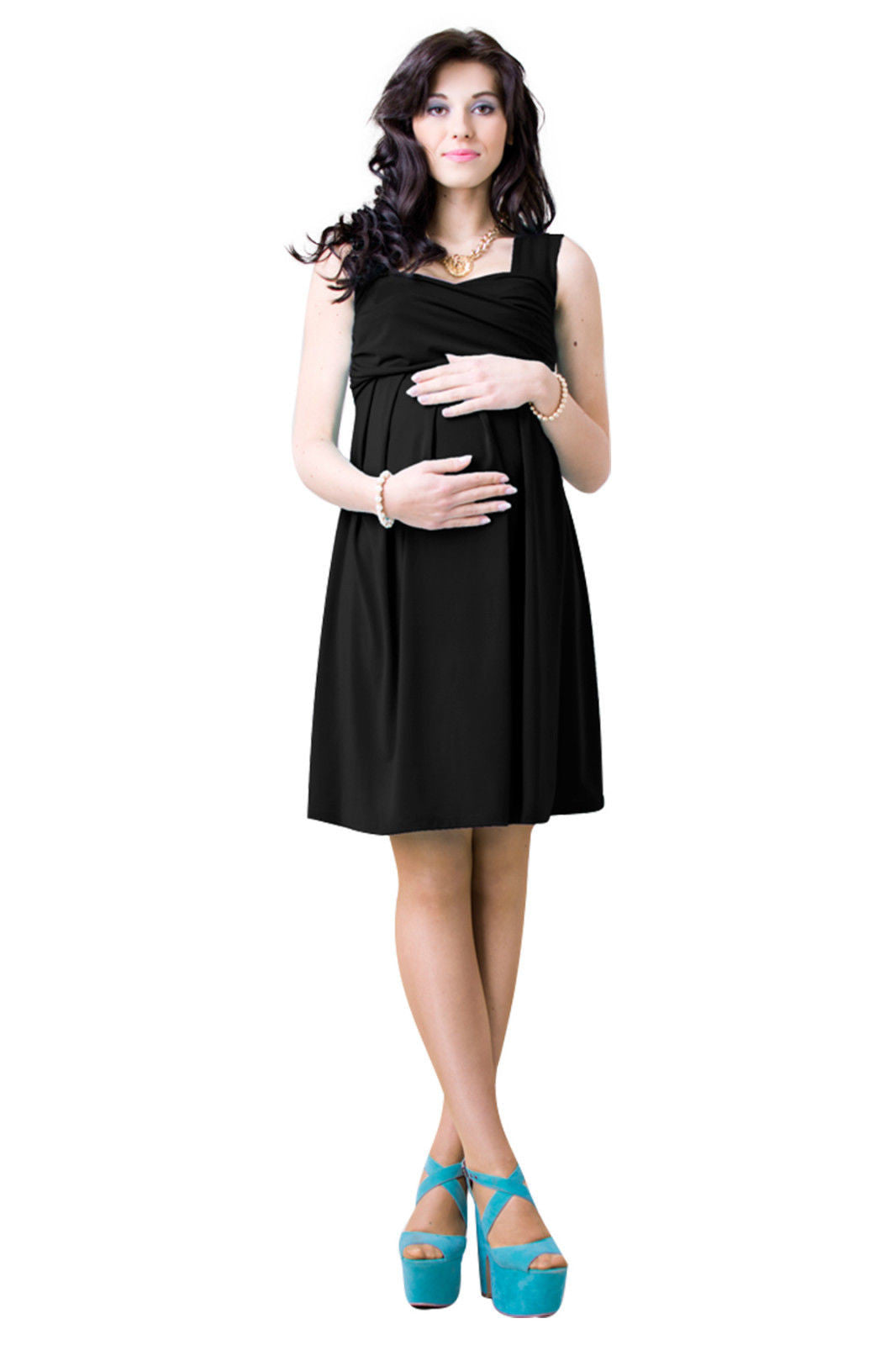 Maternity dress pregnancy stretch dress pleated cross over juicy maternity dress pregnancy stretch dress pleated cross over juicy peach fashion maternity clothes 5 ombrellifo Images