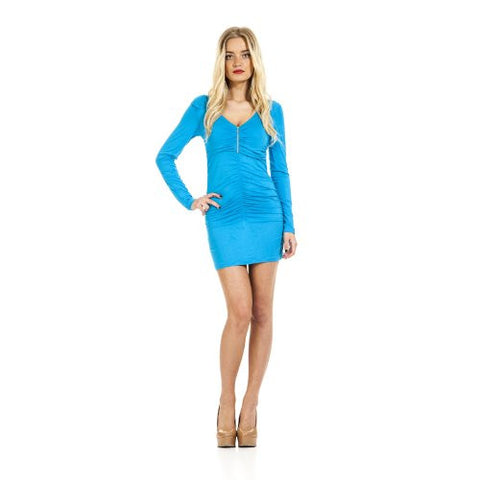 Sexy Ladies Long Sleeved Tunic Dress Long Shirt Short Mini Dress