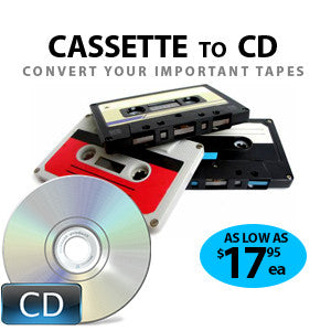 Cassette Tape to CD or File