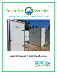 FodderWorks sprouting system instruction manual