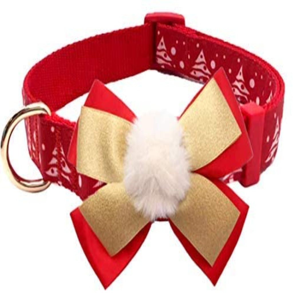 'MY CHRISTMAS BOW TIE COLLAR'