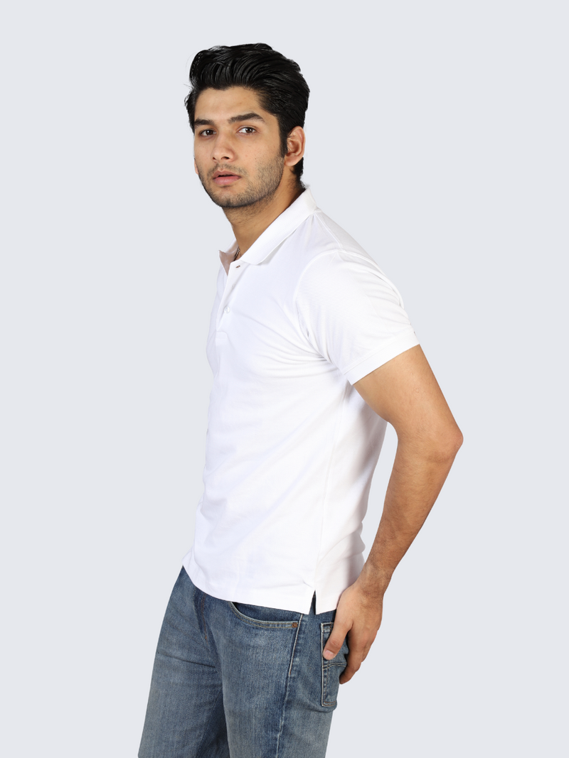 Idealist White Polo T-shirt