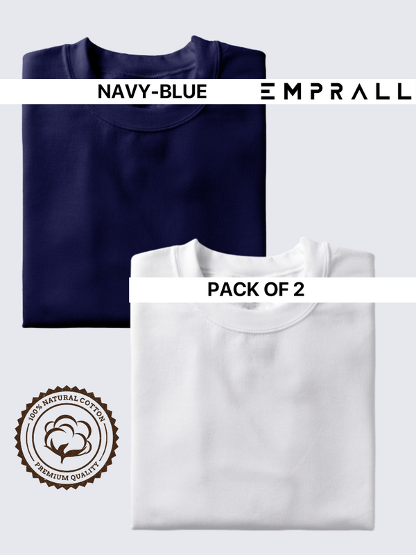 Fusion Combo: Elemental Lake Blue & Idealist White T-shirt