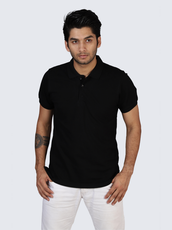 Pure Black Polo T-shirt