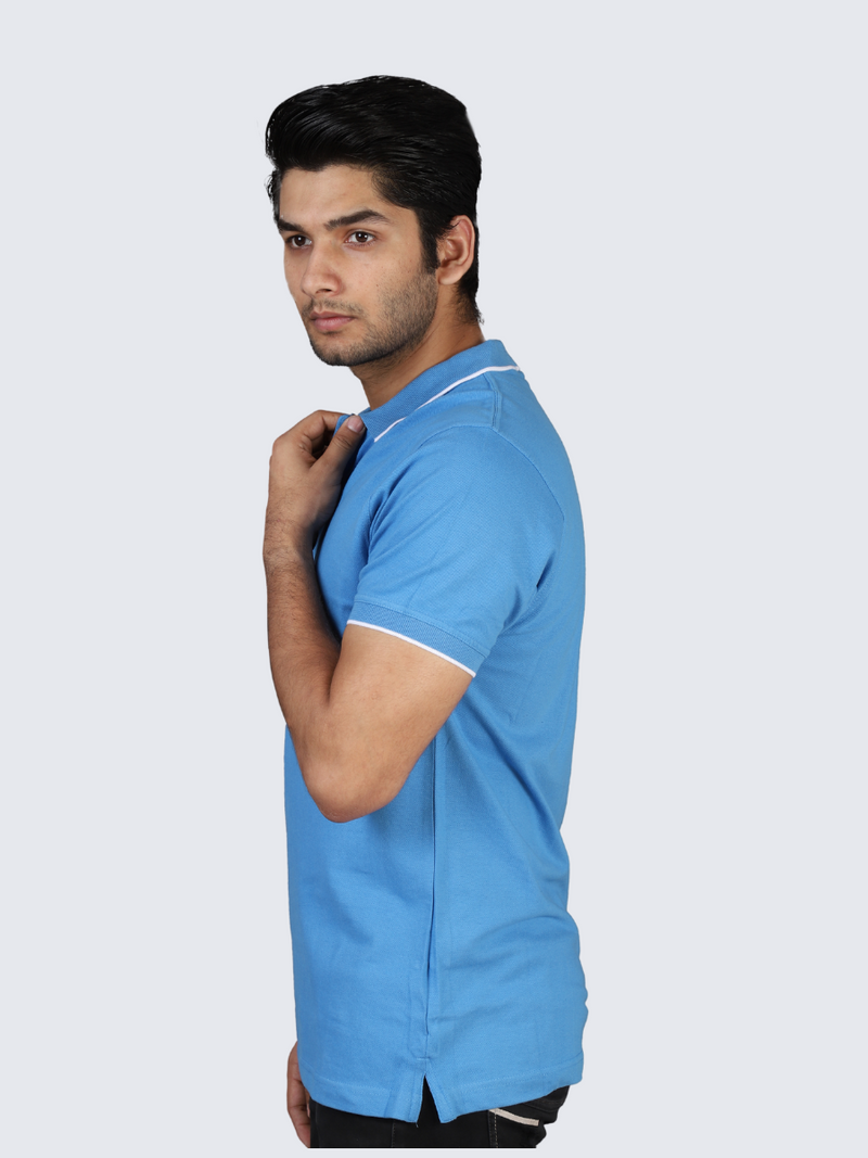 Sky Elemental Blue Polo T-shirt