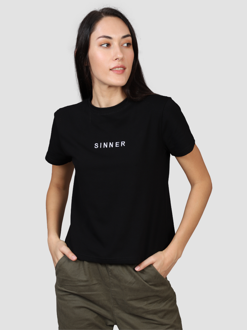 Fusion Combo: Sinner Women's Tee & Night Sky Black Tee (Pack of 2)