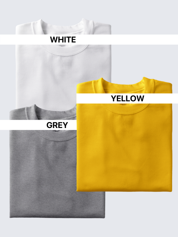 Fusion Combo: Idealist White, Eccentric Yellow, Grey Area (Pack of 2)