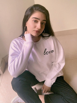 "White ""LOVE"" Over-sized  Sweatshirt"