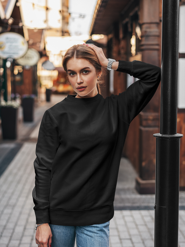 Midnight Black Over-sized Sweatshirt