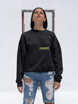 Cherry Black Over-sized Sweatshirt