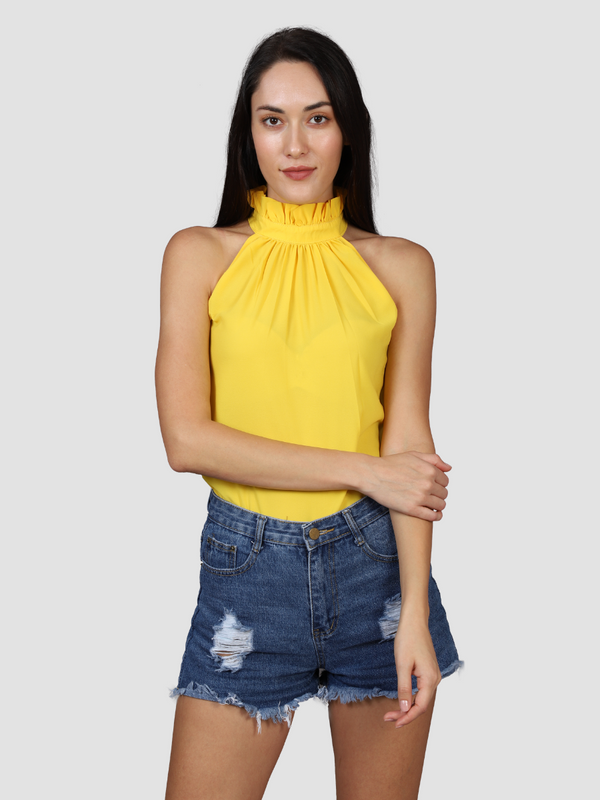 Fusion Combo: Suave Tulip Yellow Top & Black Rose Full Sleeves Top (Pack of 2)