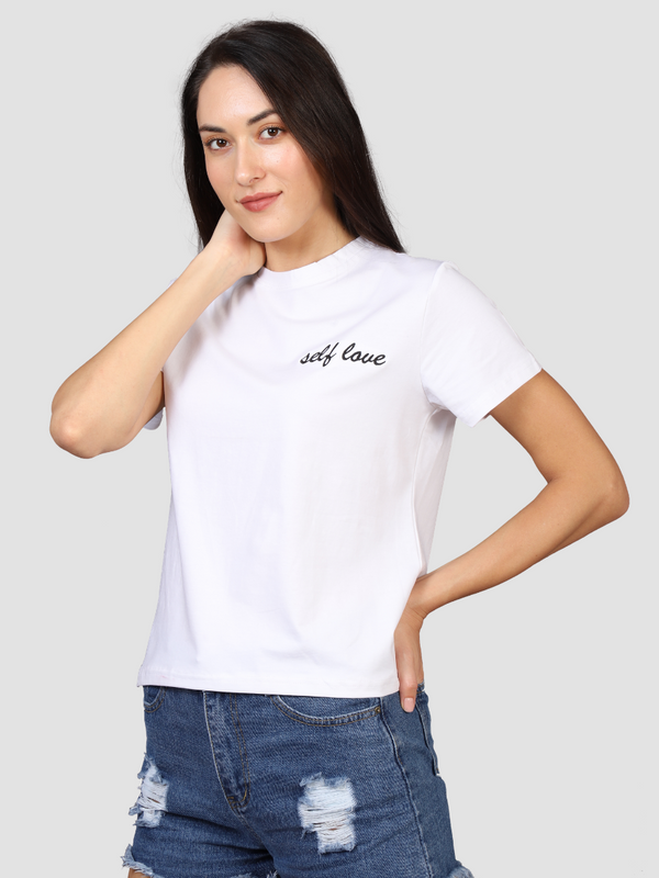 Love Yourself Women's White T-shirt