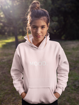 "Over-sized Baby Pink ""MOOD"" Hoodie"