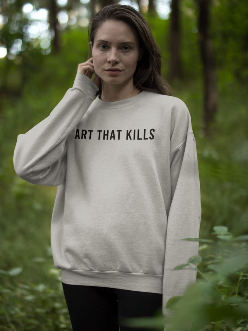 Art That Kills Over-sized Sweatshirt