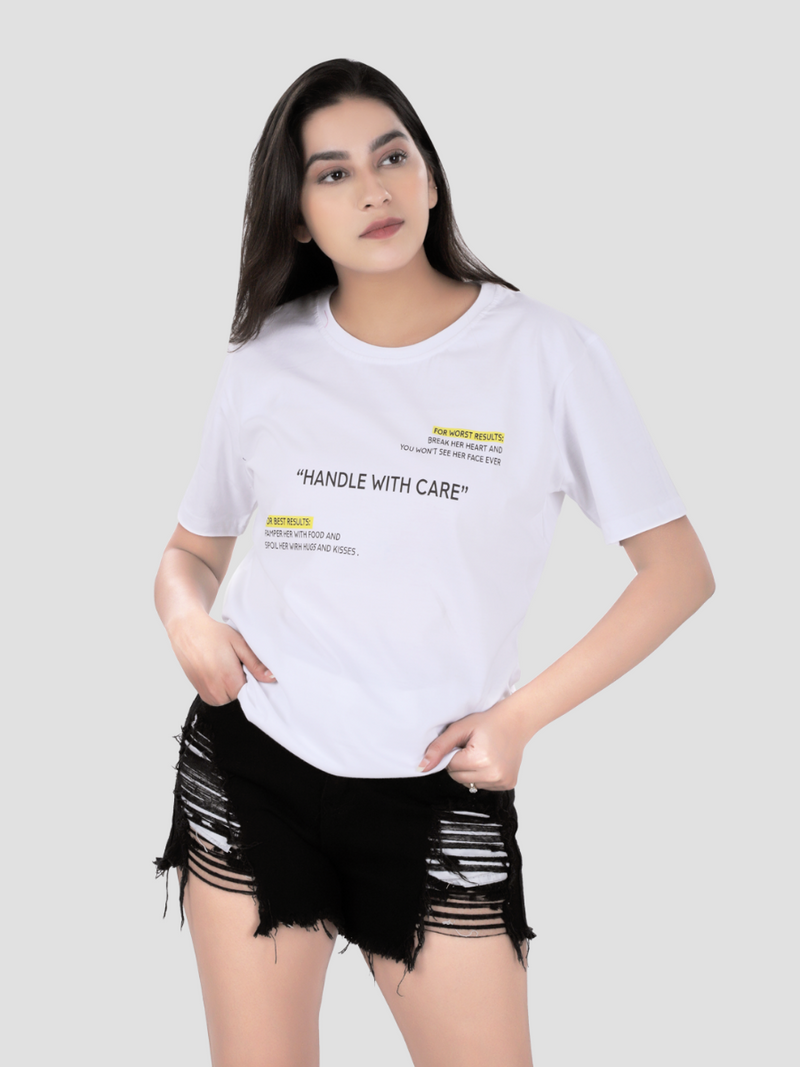 Handle With Care Woke White T-shirt