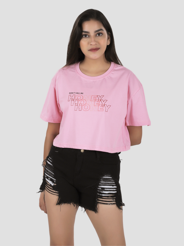 Don't Call me Honey Crop Over-Sized T-shirt
