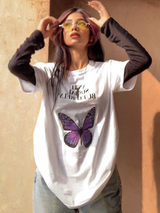 Anti-Social Butterfly White Tee